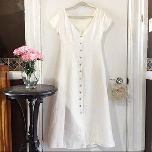 Tristan & Iseut ivory linen dress